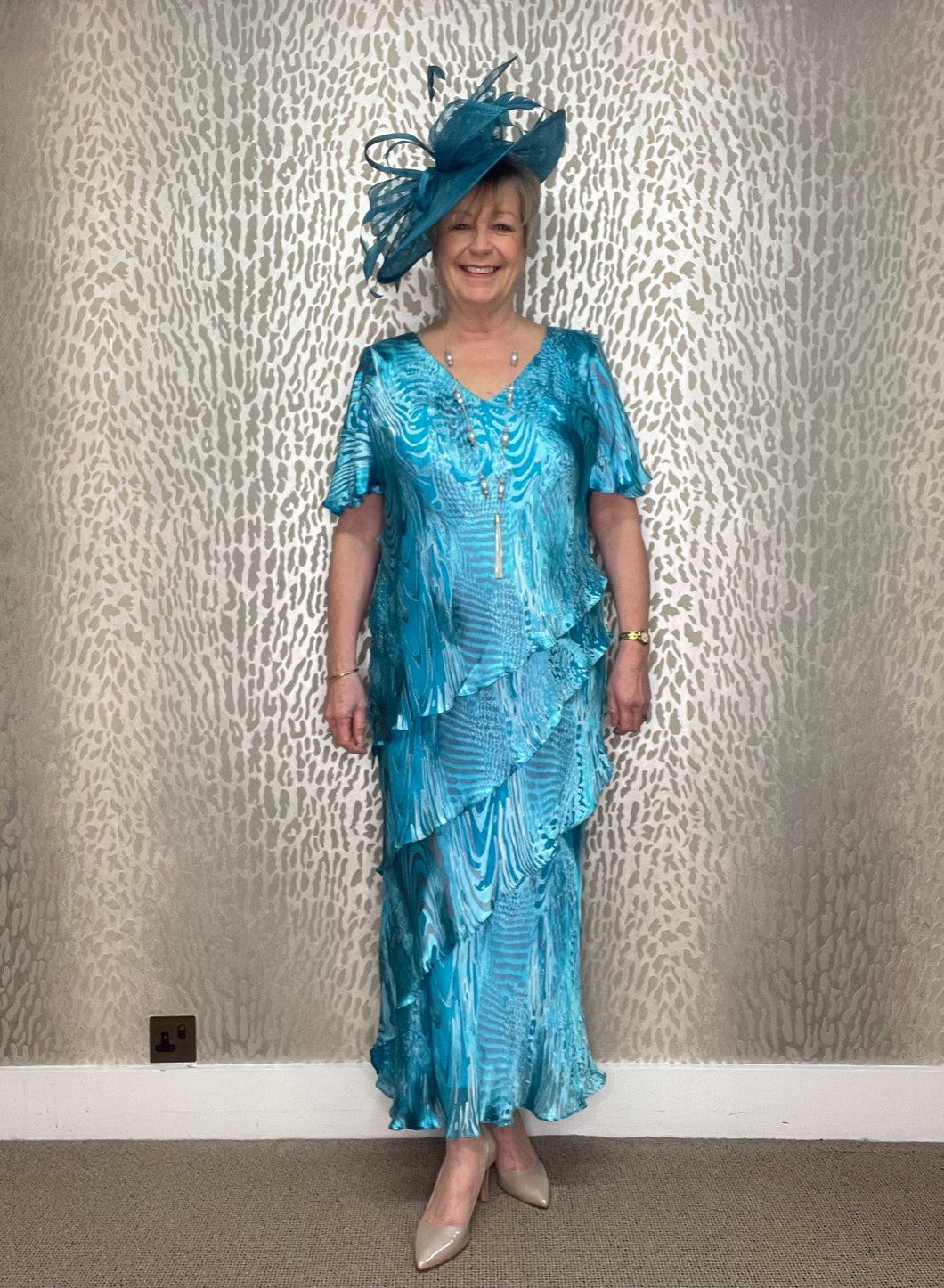 Lewis Henry Turquoise Layered Dress
