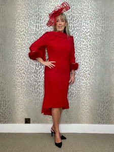 Gabriela Red Fishtail Dress