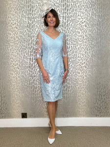 Veromia Pale Blue Lace Dress