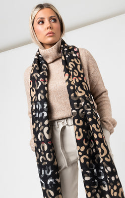 Pia Rossini Animal Print Scarf