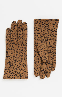 Pia Rossini Leopard Print Gloves