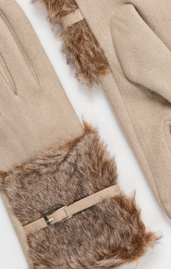 Pia Rossini Beige Gloves