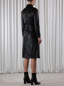 Rino & Pelle Leather Shirt Style Dress
