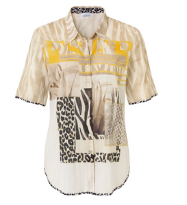 SE Just White Patchwork Shirt - 42539 - Beige/Yellow SS20