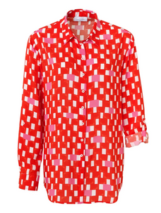 SE Just White Check Blouse - 42461 - Red/Pink/White SS20