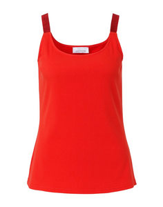 SE Just White Vest Top - 42417 - Red SS20