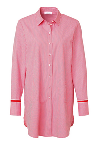 SE Just White Red Fine Stripe Shirt