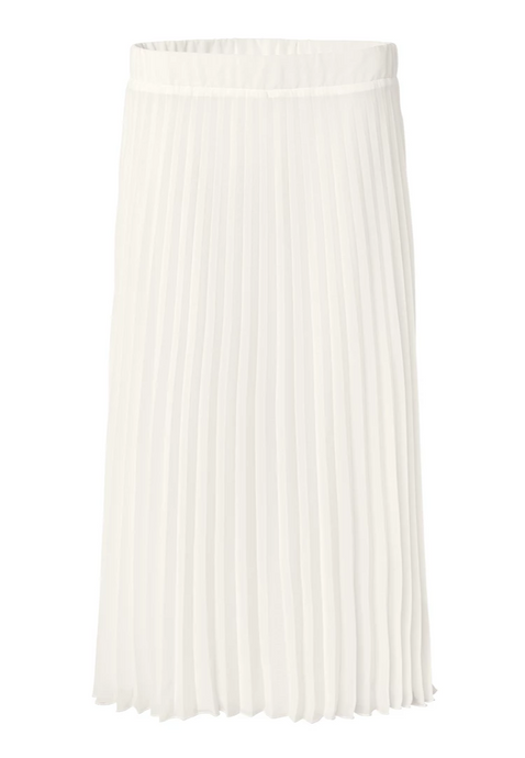 SE Just White Pleated Skirt