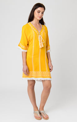 Pia Rossini Cover Up - Thea - Yellow/White