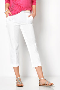 Toni Cropped Trousers 21-41 1805-6 LIV WHITE