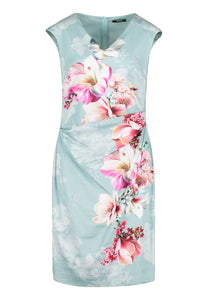 Vera Mont Floral Dress & Georgette Bolero 2182/3046 2804/5000 AQUA