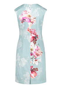 Vera Mont Floral Dress & Georgette Jacket 2182/3046 2804/5000 AQUA