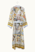 ONE HUNDRED STARS Gown Zodiac Print Long Robe GREY