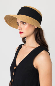 Pia Rossini Bra Sun Hat Natural/Black BRI01550