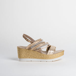 Reqins Gold Wedges - Carlotta - Pale Gold SS20