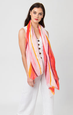 Pia Rossini Dayton Scarf Orange/Red DAY01514