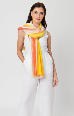 Pia Rossini Dayton Scarf Yellow/Red DAY01514