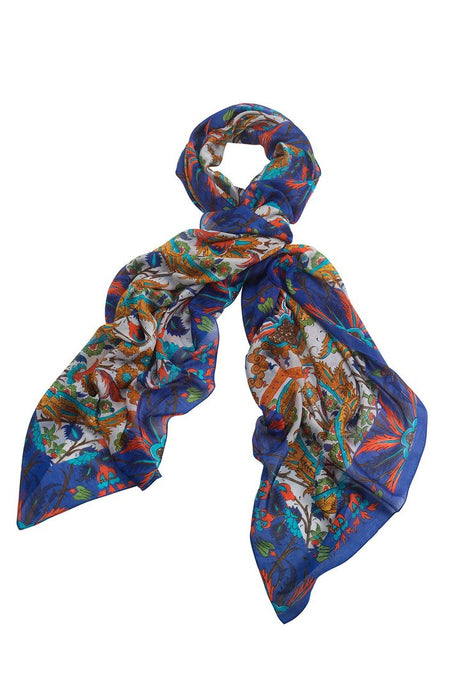 One Hundred Stars Decadent Blue Scarf