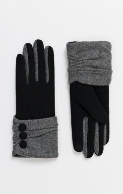 Pia Rossini Button Cuff Gloves