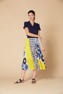 Derhy Pleated Skirt - Hermione - Blue/Yellow - SS20