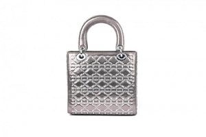 Malissa J Crystal Front Box Bag HB524 PEWTER