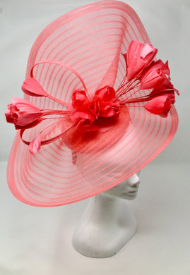 Peter Bettley Large Fascinator 9000 CORAL