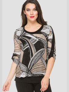 Joseph Ribkoff Textured Layer Top