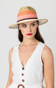 Pia Rossini Leyla Hat Natural/White LEY01536