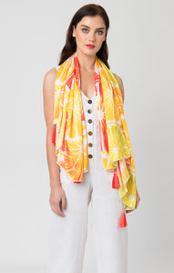 Pia Rossini Limone Scarf Orange/Red LIM01491