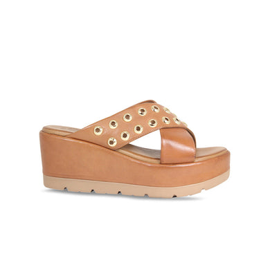 Lisa Kay Leather Wedge - Dani - Tan - SS20