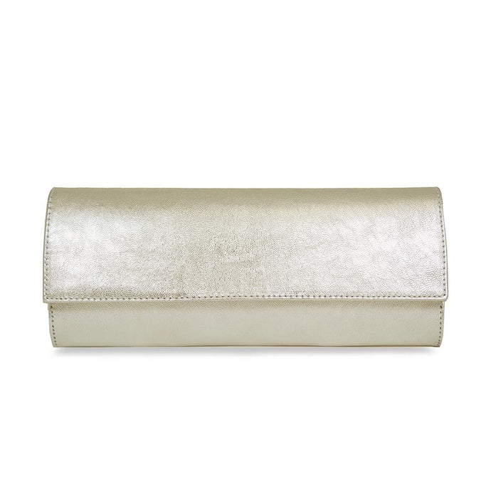 Lisa Kay Mary Leather Clutch Bag GOLD