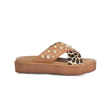 Lisa Kay Flatform - Yas - Tan/Animal Print - SS20