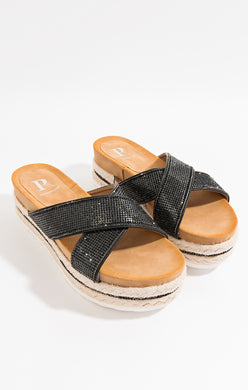 Pia Rossini Nour Sliders Black NOU00549