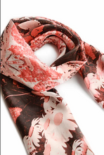 Laura Orchant Paradise Garden Orange Square Scarf