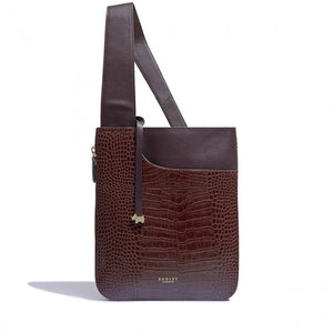 Radley Pockets Mahogany Medium Zip Cross Body Bag