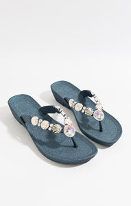 Pia Rossini Seychelles Pool Sandals Navy SEY01284