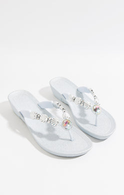 Pia Rossini Seychelles Pool Sandals Silver SEY01284