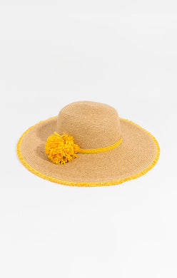 Pia Rossini Sonoma Sraw Hat Natural/Yellow SON00712
