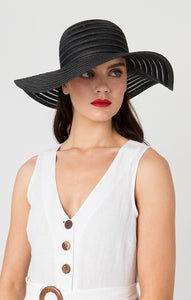 Pia Rossini Sorrento Sun Hat - Black - SOR01319