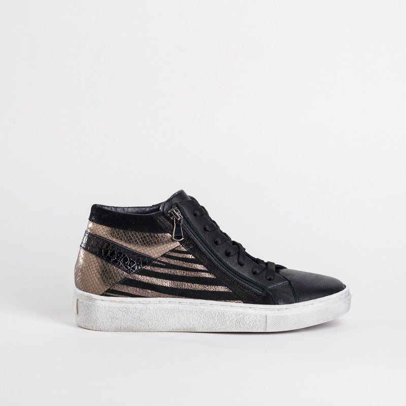 Reqins Ankle Zip Leather Trainers
