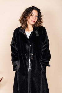 Derhy Faux Sheepskin Coat - Sagesse
