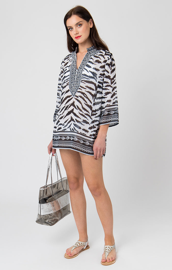 Pia Rossini Yasmina Tunic - Black/White - YAS01434