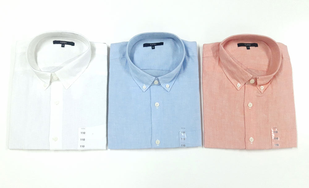 TOPTEN MEN'S 100% Linen Shirt