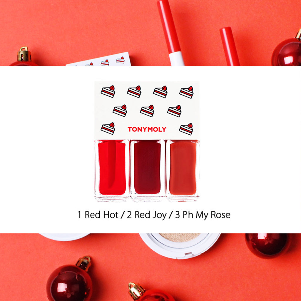TONYMOLY  02 BEST TRIO Lip Tone Get It Tint Mini Trio (Holiday Edition) 4g*3ea