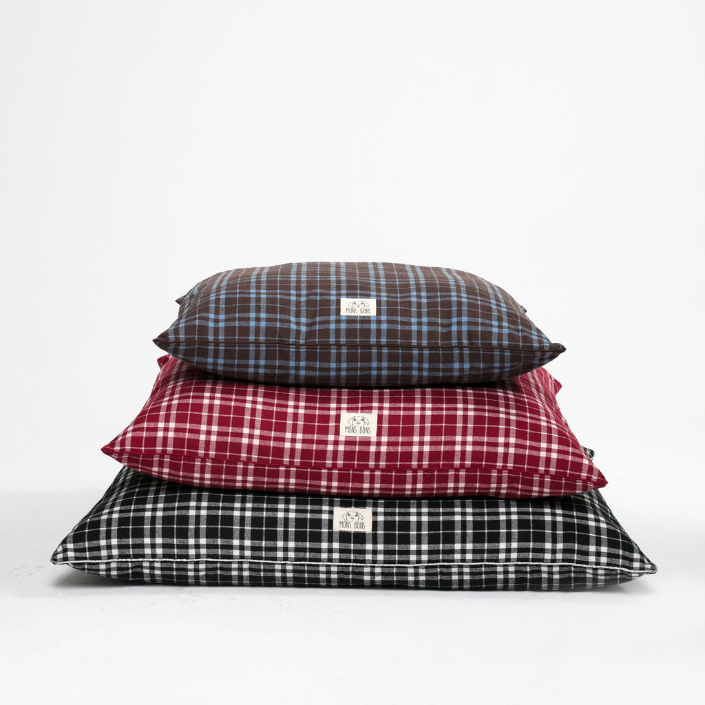 Plaid Cushion Case - MONS BONS