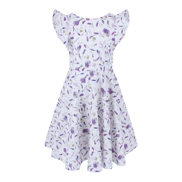 Megan Dress - Lavender Pattern