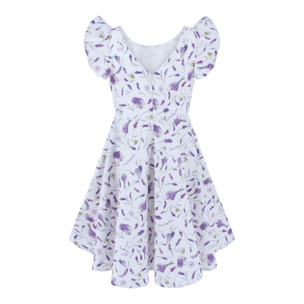 Megan Dress - Lavender Fields