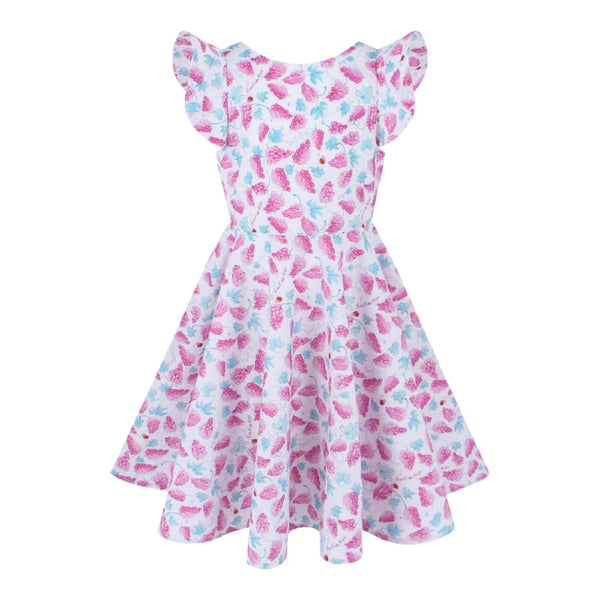 Megan Dress - Grapes Pattern