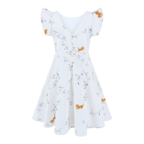 Megan Dress Storks - African Savanna