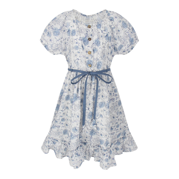 Amelia Dress - Blue Dragons